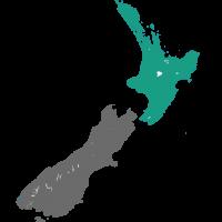 Kaart Bay of Plenty Nieuw Zeeland
