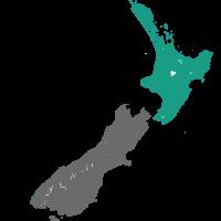 Kaart The Coromandel Nieuw Zeeland