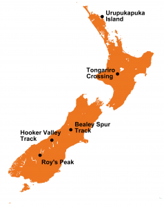 Daghikes Nieuw Zeeland