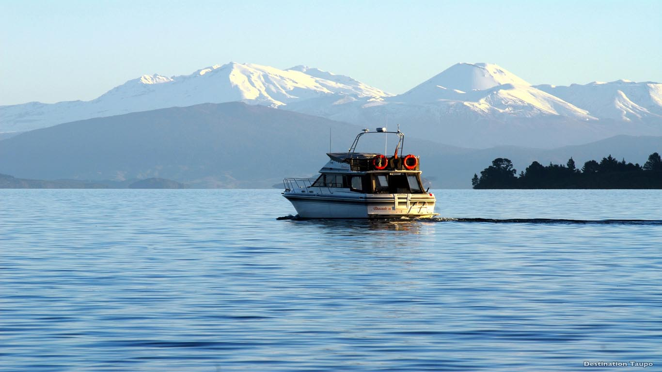 Lake Taupo Nieuw Zeeland