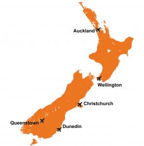 Vliegvelden Nieuw Zeeland