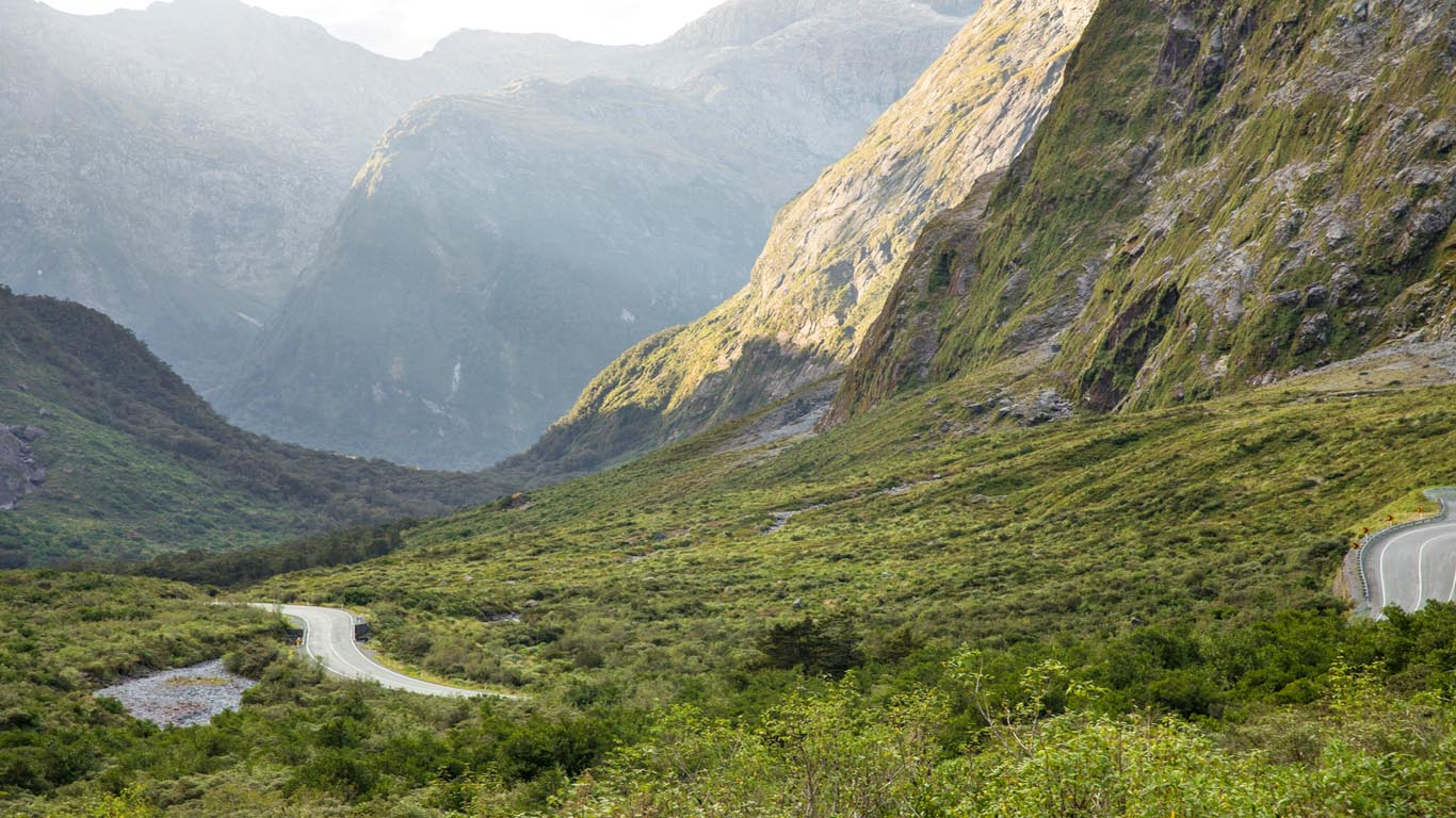 Route naar Milford Sound
