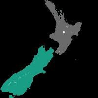 Kaart Dunedin Nieuw Zeeland